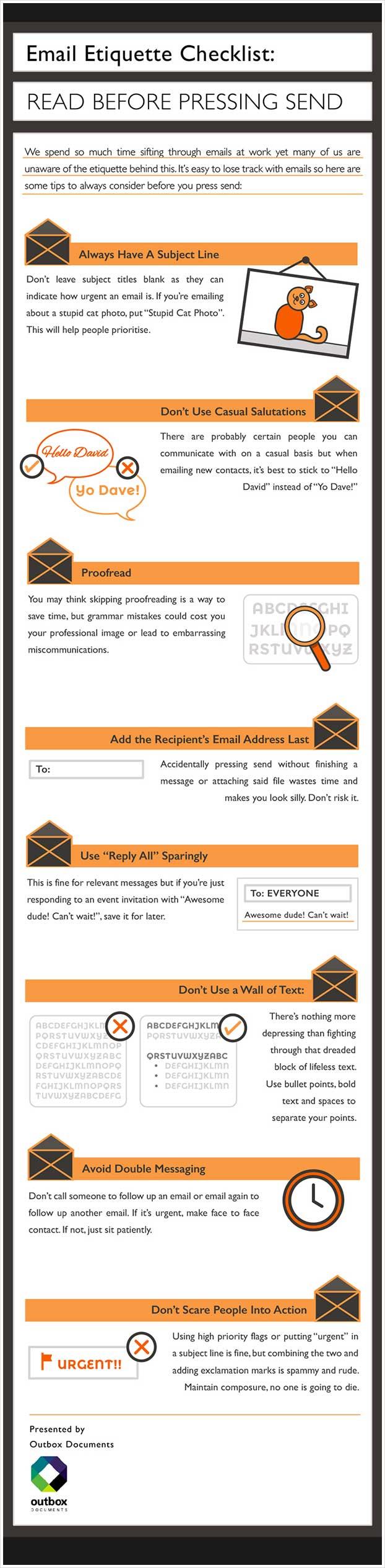 Email Etiquette Checklist Read before pressing send